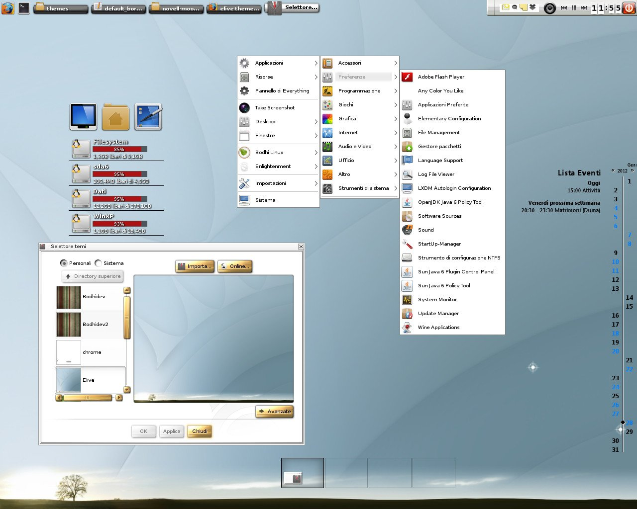 Elive default theme. Now this is available for the newest E17 build.